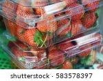 Freshly strawberries in box...
