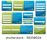 blue and green web form template | Shutterstock .eps vector #58358026