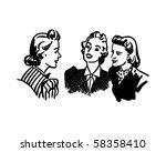 three gals chatting   retro... | Shutterstock .eps vector #58358410