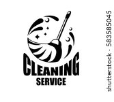 cleaning service logo with... | Shutterstock .eps vector #583585045