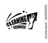 cleaning service logo with... | Shutterstock .eps vector #583585051