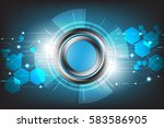 vector technology with various...   Shutterstock .eps vector #583586905