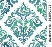 damask classic colorful pattern.... | Shutterstock . vector #583592725
