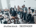 teamwork is a key to success. ... | Shutterstock . vector #583594309