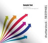 colored vector arrows | Shutterstock .eps vector #58359481