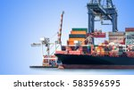 logistics and transportation of ... | Shutterstock . vector #583596595
