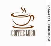 simple abstract coffee logo... | Shutterstock .eps vector #583599904