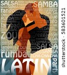 latin party illustration with... | Shutterstock .eps vector #583601521