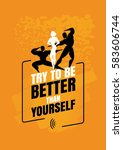 fitness motivation quote.... | Shutterstock .eps vector #583606744