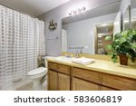 fresh and clean bathroom... | Shutterstock . vector #583606819