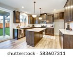 light filled northwest kitchen... | Shutterstock . vector #583607311