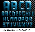 alphabet of metal letters | Shutterstock .eps vector #583608301