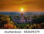 Angkor Wat Temple At Sunset ...
