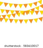 bunting flags orange color... | Shutterstock .eps vector #583610017
