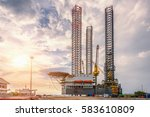 oil rig in the petroleum oil... | Shutterstock . vector #583610809