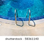 pool resort - stock photo
