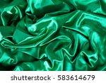 texture silk cloth fabric folds ... | Shutterstock . vector #583614679