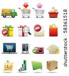 shopping icon set | Shutterstock .eps vector #58361518