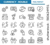 currency   rouble icons.... | Shutterstock .eps vector #583624951