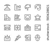 set line icons of mining | Shutterstock .eps vector #583628821