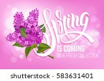 unusual calligraphic... | Shutterstock .eps vector #583631401