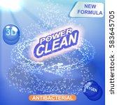 washing powder packaging vector ...   Shutterstock .eps vector #583645705