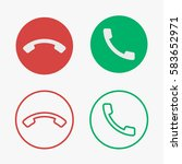 set of phone call vector icons...