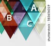 transparent triangle tiles... | Shutterstock .eps vector #583656019