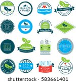 vector image of a collection of ... | Shutterstock .eps vector #583661401