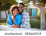 portrait of mature couple... | Shutterstock . vector #583663519