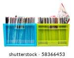 Old Records In Colour Plastic...
