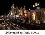 las vegas   january 1  evening... | Shutterstock . vector #58366918