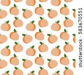 peach vector seamless pattern....   Shutterstock .eps vector #583670551