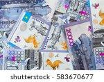 kazakhstani tenge banknotes. ... | Shutterstock . vector #583670677
