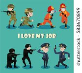 i love my job cartoon character ... | Shutterstock .eps vector #583670899