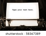 Old Type Writer With A Blank...