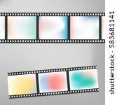 colorful vintage film or camera ... | Shutterstock .eps vector #583681141