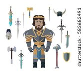 Fantasy Knight Character With...