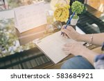 calendar reminder event concept.... | Shutterstock . vector #583684921
