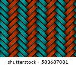 vector seamless pattern of... | Shutterstock .eps vector #583687081