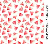 Seamless Pattern Of Watermelon...
