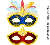 two masquerade mask with... | Shutterstock .eps vector #58369753