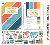brochure template design. cover ...   Shutterstock .eps vector #583699381