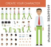 create your character... | Shutterstock .eps vector #583699549