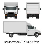 white truck template. cargo van ... | Shutterstock .eps vector #583702945