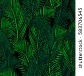 seamless tropical pattern of... | Shutterstock .eps vector #583706545
