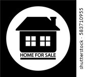 home for sale icon | Shutterstock .eps vector #583710955