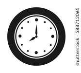 clock icon simple black.... | Shutterstock .eps vector #583712065