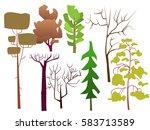 vector illustration. set of... | Shutterstock .eps vector #583713589