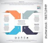 minimal infographics. vector | Shutterstock .eps vector #583713949